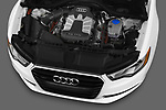 Car stock 2012-2014 Audi A6  Premium Plus 4 Door Sedan engine high angle detail view
