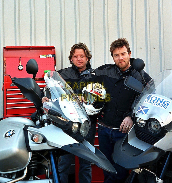 CHARLEY BOORMAN & EWAN McGREGOR .in Long Way Round.*Editorial Use Only*.www.capitalpictures.com.sales@capitalpictures.com.Supplied by Capital Pictures.