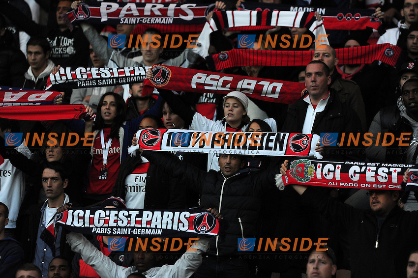 Supporters PSG .Francia Ligue 1.Football Calcio 2012/2013.PSG Vs St Etienne.Foto Panoramic / Insidefoto .ITALY ONLY..