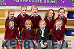 Enjoying their first day in Mss McMahon's Class in Kilconly NS in Ballybunion on Monday.