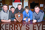 DIVISION 2: Gneegvegulla mens Div 2 winner who were presented with their plaques and medals at the end of the basketball season in the Castle Bar, Rock Street, Tralee on Saturday night. l-r: Padraig O'Sullivan, Tomasz latosinski, Mike McGillicuddy,Dan Murphy and Cormac Collins (coach).