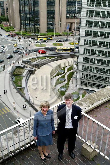 BRUSSELS - BELGIUM - 4 MAY 2004--Anne-Grethe STROM-ERICHSEN (Str¿m, Stroem) and Gunnar SELVIK.-- PHOTO: ERIK LUNTANG / EUP-IMAGES