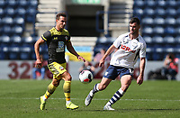 Preston North End's Andrew Hughes and Southampton's Cedric Soares<br /> <br /> Photographer Stephen White/CameraSport<br /> <br /> Football Pre-Season Friendly - Preston North End v Southampton - Saturday July 20th 2019 - Deepdale Stadium - Preston<br /> <br /> World Copyright © 2019 CameraSport. All rights reserved. 43 Linden Ave. Countesthorpe. Leicester. England. LE8 5PG - Tel: +44 (0) 116 277 4147 - admin@camerasport.com - www.camerasport.com