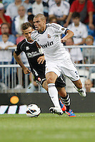 02.09.2012 SPAIN -  La Liga 12/13 Matchday 3th  match played between Real Madrid CF vs  Granada C.F. (3-0) at Santiago Bernabeu stadium. The picture show Kepler Laveran Pepe (Portuguese/Brazilian defender of Real Madrid)