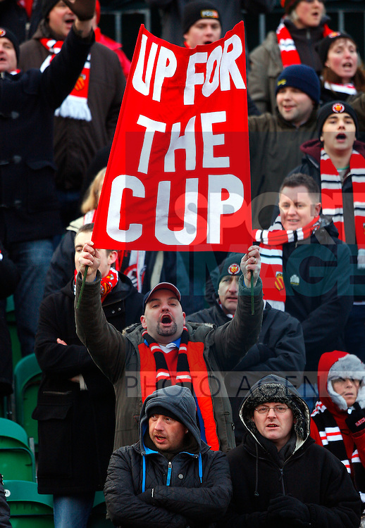 FC United of Manchester fans show they're 'Up For The Cup'