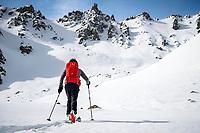 Ski touring in the Aksuu Valley, Kyrgyzstan