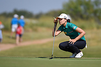 In Gee Chun (KOR) lines up her putt on 18 during the round 3 of the Volunteers of America Texas Classic, the Old American Golf Club, The Colony, Texas, USA. 10/5/2019.<br /> Picture: Golffile   Ken Murray<br /> <br /> <br /> All photo usage must carry mandatory copyright credit (© Golffile   Ken Murray)