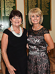 Lady Captain of Seapoint GC Sandra Kierans pictured with LC of Laytown & Bettystown GC at the Captains dinner. Photo:Colin Bell/pressphotos.ie