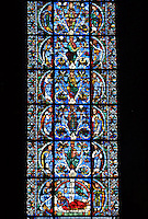 The Jesse window or Tree of Jesse (fragment), circa 1150, Chartres Cathedral, Eure et Loir, France Picture by Manuel Cohen