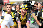 Mike Theunison (BEL) Team Jumbo-Visma wins Stage 1 of the 2019 Tour de France running 194.5km from Brussels to Brussels, Belgium. 6th July 2019.<br /> Picture: Colin Flockton | Cyclefile<br /> All photos usage must carry mandatory copyright credit (© Cyclefile | Colin Flockton)