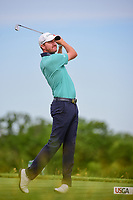Jimmy Walker (USA) watches his tee shot on 13 during Friday's round 2 of the 117th U.S. Open, at Erin Hills, Erin, Wisconsin. 6/16/2017.<br /> Picture: Golffile | Ken Murray<br /> <br /> <br /> All photo usage must carry mandatory copyright credit (&copy; Golffile | Ken Murray)