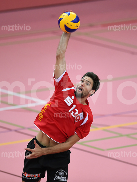 Volleyball 1. Bundesliga  Saison  2014/2015 Testspiel 10.09.2014 in Tuebingen TV Rottenburg  - SV Fellbach Oliver Staab (TV Rottenburg)