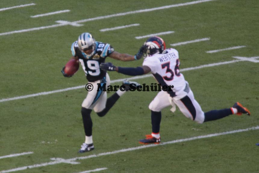 WR Ted Ginn (Panthers) gegen CB Kayvon Webster (Broncos) - Super Bowl 50: Carolina Panthers vs. Denver Broncos