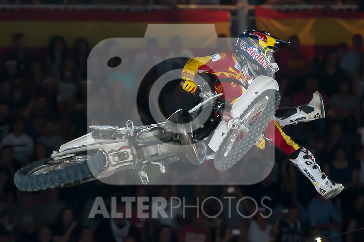 Red Bull X-Fighters 2012. Madrid. Rider In the picture Dany Torres ESP. July 19, 2012. (ALTERPHOTOS/Ricky Blanco)