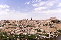 Toledo from across Rio Tajo, Spain