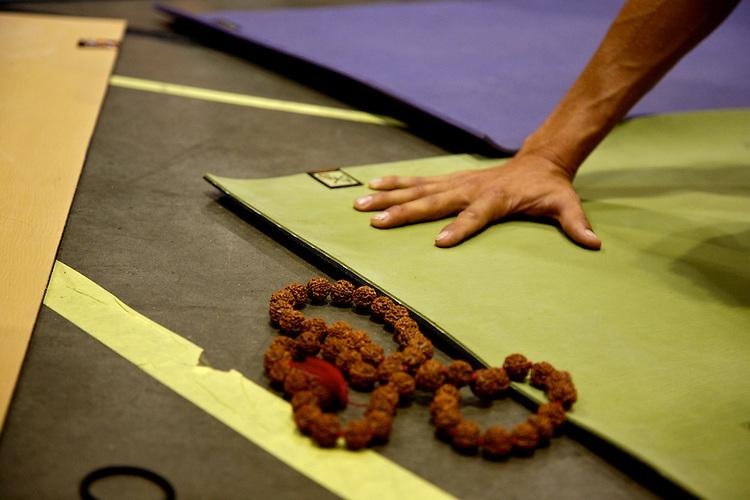 Global Mala Project (GMP) event.  Manduka mats.