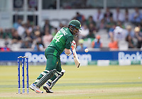 Safaraz Ahmed (Pakistan) drops the ball and pinches a single during Pakistan vs Bangladesh, ICC World Cup Cricket at Lord's Cricket Ground on 5th July 2019