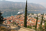View of Kotor from waks to Church of our Lady of Remedy