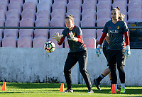 20171023 - PENAFIEL , PORTUGAL :  Belgian Diede Lemey pictured during the matchday -1 training session of the Belgian national women's soccer team Red Flames prior to the game against the women's team of Portugal , on monday 23 October 2017 at Estádio Municipal 25 de Abril in Penafiel. The Red Flames are playing their third game in the Worldcup 2019 France qualification against Portugal. PHOTO SPORTPIX.BE | DAVID CATRY