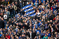 Bath Rugby supporters celebrate a try. Gallagher Premiership match, between Bath Rugby and Wasps on May 5, 2019 at the Recreation Ground in Bath, England. Photo by: Patrick Khachfe / Onside Images