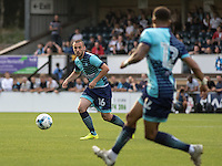 Michael Harriman of Wycombe Wanderers during the Pre-Season Friendly match between Wycombe Wanderers and Queens Park Rangers at Adams Park, High Wycombe, England on the 22nd July 2016. Photo by Liam McAvoy / PRiME Media Images.