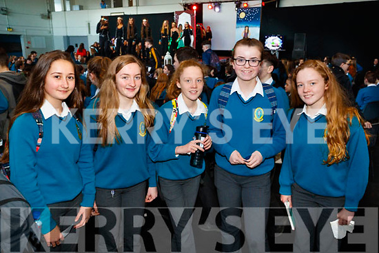 Lola Rose Le Prince, Emily O'Brien, Millie Dunne, Roisin Long, Laura Dowd, pictured at Mercy Mounthawk Secondary School Fashion Show held at the School Gym on Wednesday last.