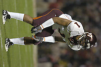20 October 2005: Victor Macho Harris (1)..The Virginia Tech Hokies defeated the Maryland Terrapins 28-9 at Byrd Stadium in College Park, MD.