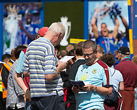 Burnley fans before kick off<br /> <br /> Photographer Craig Mercer/CameraSport<br /> <br /> The Premier League - Chelsea v Burnley - Saturday August 12th 2017 - Stamford Bridge - London<br /> <br /> World Copyright &copy; 2017 CameraSport. All rights reserved. 43 Linden Ave. Countesthorpe. Leicester. England. LE8 5PG - Tel: +44 (0) 116 277 4147 - admin@camerasport.com - www.camerasport.com