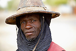 A man in Timbuktu, a city in northern Mali which was seized by Islamist fighters in 2012 and then liberated by French and Malian soldiers in early 2013. This man belongs to the Bella ethnic group, which has traditionally been exploited by the region's lighter-skinned groups.