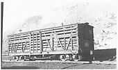 RGS stock car #7302 in Durango.<br /> RGS  Durango, CO  Taken by Maxwell, John W. - 5/25/1949
