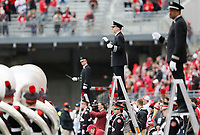 The Ohio State Buckeyes band perform before the first half of their game against the Minnesota Golden Gophers at Ohio Stadium in Columbus, Ohio on October 13, 2018. [ Brooke LaValley / Dispatch ]