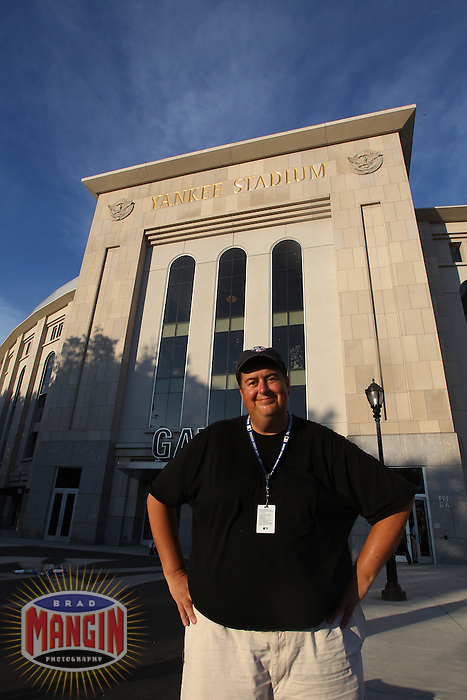 NEW YORK, NY - JULY 25:  Photographer Brad Mangin stands outside Yankee Stadium after photographing a game between the Kansas City Royals and the New York Yankees at Yankee Stadium on July 25, 2010 at Yankee Stadium in the Bronx borough of New York City. Photo by John Iacono