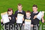 Celebrating their Junior Cert results at Killarney Community Colllege on Wednesday were l-r: Sophie Norris, Ross O'Sullivan, Tadhg Moriarty and Padraic O'Sullivan