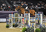 "Denis Lynch (IRL) riding ""Caruso"". International showjumping. Grandstand welcome stakes. Horse of the year show (HOYS). National Exhibition Centre (NEC). Birmingham. UK. 05/10/2018. ~ MANDATORY CREDIT Garry Bowden/SIPPA - NO UNAUTHORISED USE - +44 7837 394578"