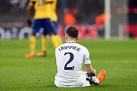 Adespondent  Kieran Trippier of Tottenham Hotspurr after Tottenham Hotspur vs Juventus, UEFA Champions League Football at Wembley Stadium on 7th March 2018