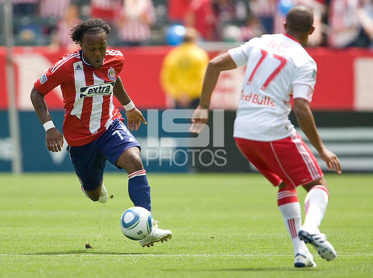 Chivas USA forward Chukwudi Chijindu (77) moves with the ball. Chivas USA defeated the Red Bulls of New York 2-0 at Home Depot Center stadium in Carson, California April 10, 2010.  .