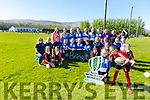 Emily May Buirgin and Kitty Counihan with  Tralee Women's Rugby launch the  World Cup Trophy Tour visit on Saturday