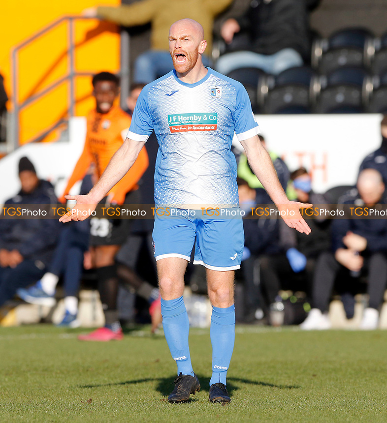 Jason Taylor in action for Barrow during Barnet vs Barrow, Buildbase FA Trophy Football at the Hive Stadium on 8th February 2020