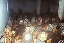 Iran 1982.Baneh: Political meeting of KDPI in a mosque and people applauding