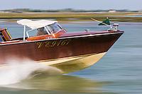 Italie, Vénétie, Venise:  Bateau taxi dans la  Lagune   // Italy, Veneto, Venice: