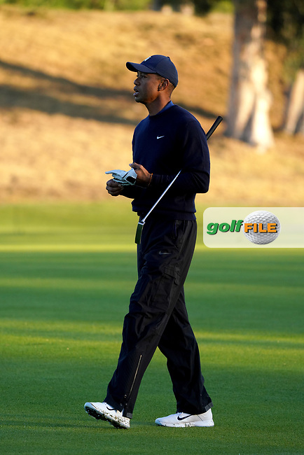 Tiger Woods (USA) during the Pro-Am ahead of the The Genesis Invitational, Riviera Country Club, Pacific Palisades, Los Angeles, USA. 11/02/2020<br /> Picture: Golffile   Phil Inglis<br /> <br /> <br /> All photo usage must carry mandatory copyright credit (© Golffile   Phil Inglis)