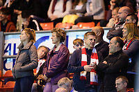 Lincoln City fans watch their team in action<br /> <br /> Photographer Chris Vaughan/CameraSport<br /> <br /> The EFL Checkatrade Trophy Group H - Lincoln City v Mansfield Town - Tuesday September 4th 2018 - Sincil Bank - Lincoln<br />  <br /> World Copyright © 2018 CameraSport. All rights reserved. 43 Linden Ave. Countesthorpe. Leicester. England. LE8 5PG - Tel: +44 (0) 116 277 4147 - admin@camerasport.com - www.camerasport.com