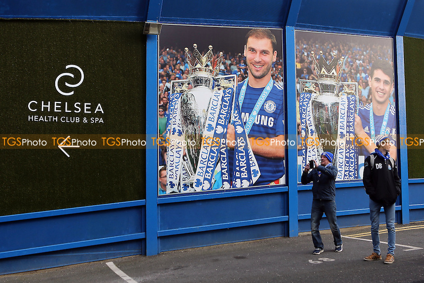 A large photo of Chelsea's Branislav Ivanovic on the walls outside the ground during Chelsea vs Hull City, Premier League Football at Stamford Bridge on 22nd January 2017