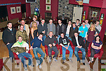 21ST CLEBRATIONS: Barry Commane, Ballyrickard (seated 3rd left) enjoying a great time celebrating his 21st birthday with family and friends at O'Donnell's restaurant and bar on Saturday.