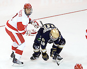 Max Nicastro (BU - 7), Kyle Palmieri (Notre Dame - 10) - The University of Notre Dame Fighting Irish defeated the Boston University Terriers 3-0 on Tuesday, October 20, 2009, at Agganis Arena in Boston, Massachusetts.