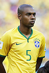 Fernandinho (BRA), JULY 4, 2014 - Football / Soccer : FIFA World Cup Brazil 2014 Quarter Final match between Brazil 2-1 Colombia at the Castelao arena in Fortaleza, Brazil. <br /> (Photo by AFLO)