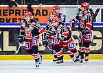 S&ouml;dert&auml;lje 2014-01-06 Ishockey Hockeyallsvenskan S&ouml;dert&auml;lje SK - Malm&ouml; Redhawks :  <br />  S&ouml;dert&auml;ljes Philip DeSimone har gratulerats av lagkamrater efter sitt 1-1 m&aring;l<br /> (Foto: Kenta J&ouml;nsson) Nyckelord:  jubel gl&auml;dje lycka glad happy