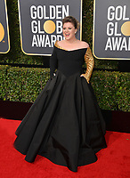 Kelly Clarkson at the 75th Annual Golden Globe Awards at the Beverly Hilton Hotel, Beverly Hills, USA 07 Jan. 2018<br /> Picture: Paul Smith/Featureflash/SilverHub 0208 004 5359 sales@silverhubmedia.com