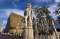 Hale o Keawe, Wooden Ki'i Images ,  The City of Refuge, Hawaii