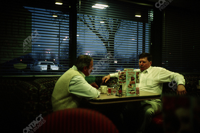 Denny's restaurant, Lansing, Michigan, USA, February 2001